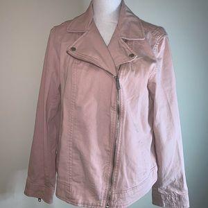 NWT Old Navy Pink Twill Moto Jacket
